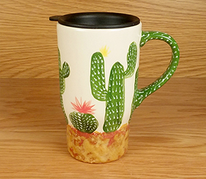 Upper West Side New York Cactus Travel Mug