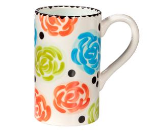 Upper West Side New York Simple Floral Mug