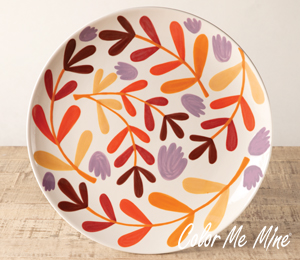 Upper West Side New York Fall Floral Charger