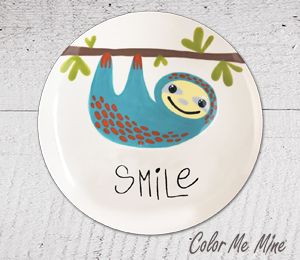 Upper West Side New York Sloth Smile Plate