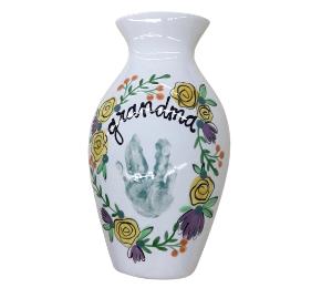 Upper West Side New York Floral Handprint Vase