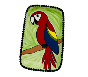 Upper West Side New York Scarlet Macaw Plate