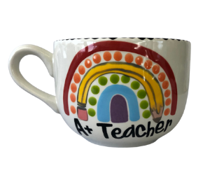Upper West Side New York Polka Dot Rainbow Mug